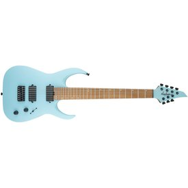 Jackson USA Signature Misha Mansoor Juggernaut HT7, Caramelized Flame Maple Fingerboard, Satin Daphne Blue