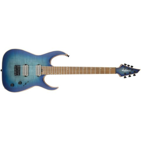 USA Signature Misha Mansoor Juggernaut HT6FM, Caramelized Flame Maple Fingerboard, Satin Laguna Burst