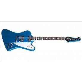 Music Man Ernie Ball Music Man St. Vincent Blue, Figured Roasted Maple/Rosewood, White
