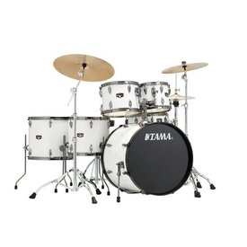 TAMA TAMA Imperialstar 6-piece complete pack Sugar White with Black Nickel shell hardware