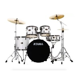 TAMA Tama Imperialstar 5-piece complete pack Sugar White with Black Nickel shell hardware
