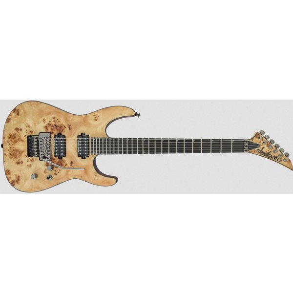 Jackson Pro Series Soloist SL2P MAH, Mahogany Body with Poplar Burl Top, Ebony Fingerboard, Desert Sand