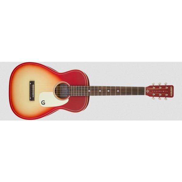 Gretsch Guitars G9500 LTD Jim Dandy 24'' Scale Flat Top Guitar, Chieftain Red Burst