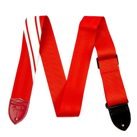 Fender Competition Stripe Strap, Red and Cream