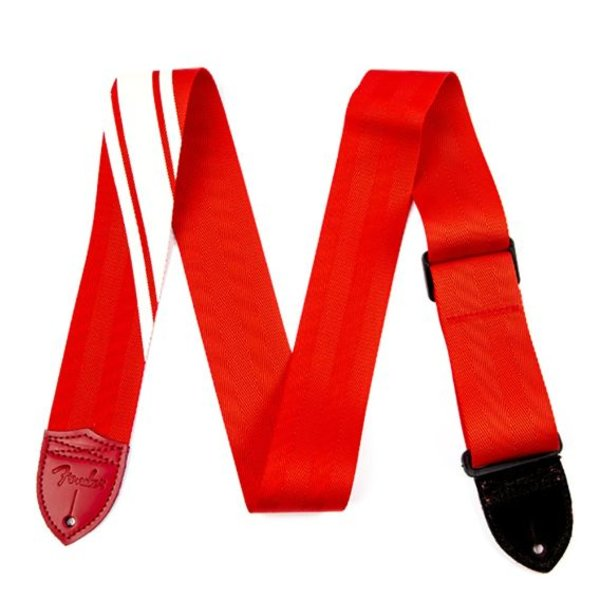 Fender Fender Competition Stripe Strap, Red and Cream