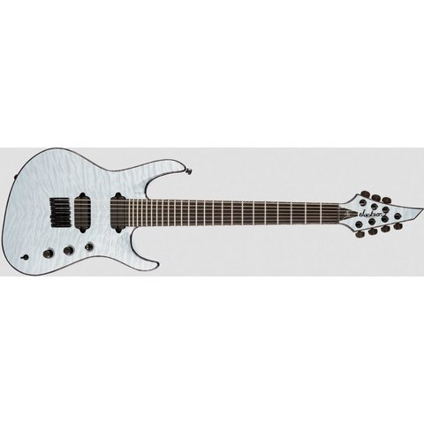 USA Signature Chris Broderick Soloist HT7, Ebony Fingerboard, Transparent White