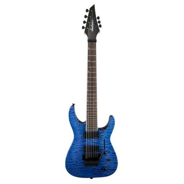 Jackson X Series Soloist SLATXSDQ3-7, Rosewood Fingerboard, Transparent Blue