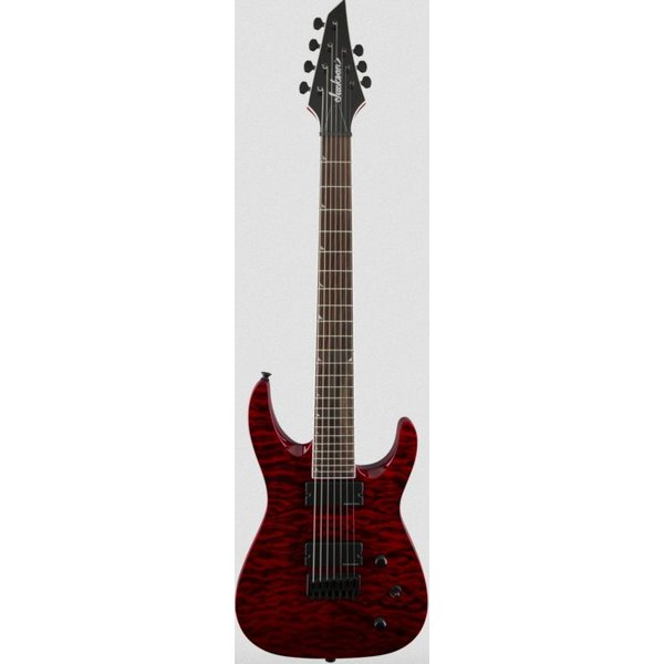 Jackson X Series Soloist SLATHXSDQ3-7, Rosewood Fingerboard, Transparent Red