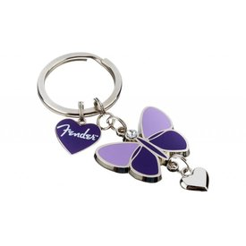 Fender Fender Butterfly Keychain, Purple