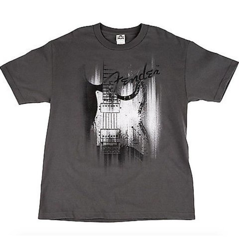 Fender Airbrushed Strat T-Shirt, Gray, XL