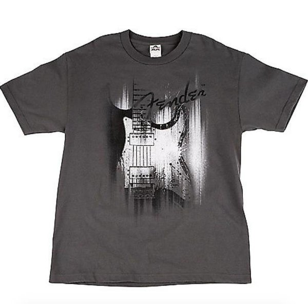 Fender Fender Airbrushed Strat T-Shirt, Gray, XL