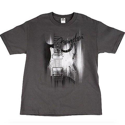 Fender Airbrushed Strat T-Shirt, Gray, M