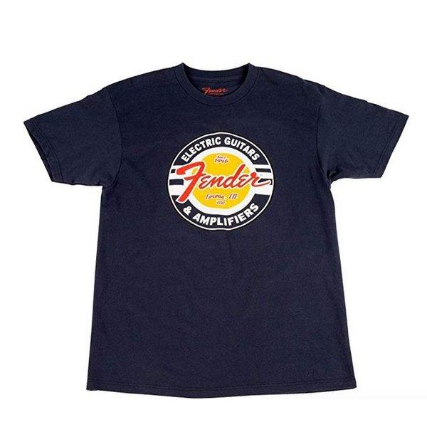 Fender Fender Guitars and Amps Logo T-Shirt, Navy, S