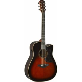 Yamaha Yamaha A3RVSHC Folk Cutaway Acoustic Electric Rosewood Tobacco Sunburst w/ Case
