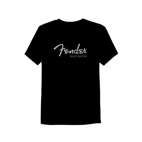 Fender Hollywood Men's T-Shirt, Black, S