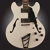 D'Angelico Premier DC Semi-Hollow Double Cutaway w/ Stairstep Tailpiece White w/ Bag