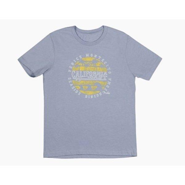 Fender Fender Cali Coastal Yellow Waves Men's T-Shirt, Gray, M