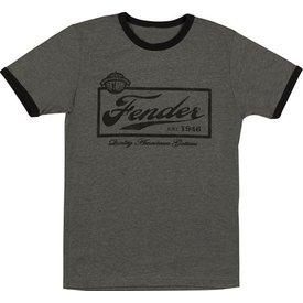 Fender Fender Beer Label Mens T-Shirt, Black, S