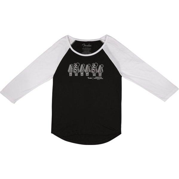 Fender American Professional Ladies T-Shirt, Black, XL