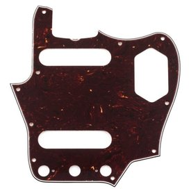Fender Pure Vintage Pickguard, '65 Jaguar, 10-Hole Mount, Brown Shell, 3-Ply