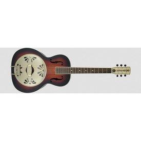 Gretsch Guitars G9241 Alligator Biscuit Round-Neck Resonator Guitar with Fishman Nashville Pickup, 2-Color Sunburst