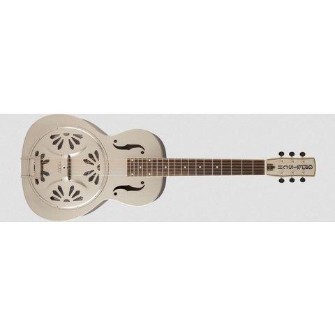 G9231 Bobtail Steel Square-Neck A.E., Steel Body Spider Cone Resonator Guitar, Fishman Nashville Resonator Pickup