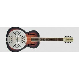 Gretsch Guitars G9220 Bobtail Round-Neck A.E., Mahogany Body Spider Cone Resonator Guitar, Fishman Nashville Resonator Pickup, 2-Color Sunburst
