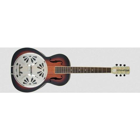 G9220 Bobtail Round-Neck A.E., Mahogany Body Spider Cone Resonator Guitar, Fishman Nashville Resonator Pickup, 2-Color Sunburst