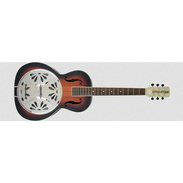 Gretsch Guitars G9220 Bobtail Round-Neck A.E., Mahogany Body Spider Cone Resonator Guitar, Fishman Nashville Resonator Pickup, 2-Color Sunburst