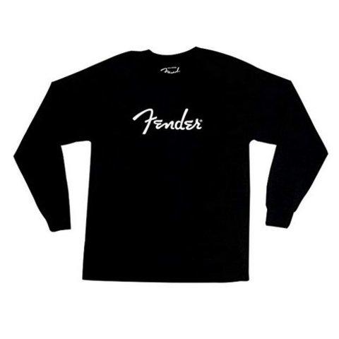 Fender Long-Sleeve Logo T-Shirt, Black, M