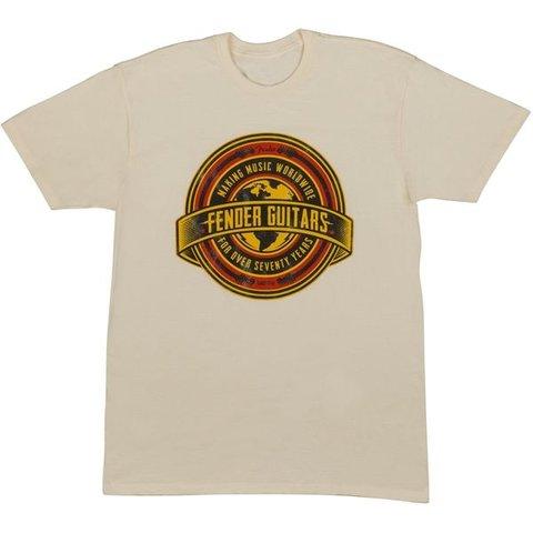 Fender Worldwide Men's T-Shirt, Tan, XXL