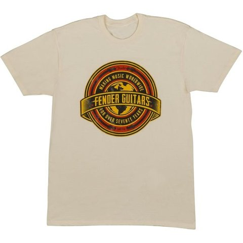 Fender Worldwide Men's T-Shirt, Tan, S