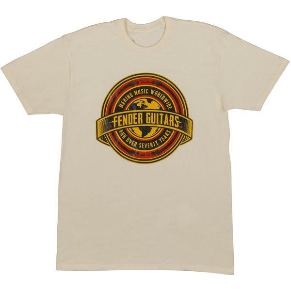 Fender Fender Worldwide Men's T-Shirt, Tan, S