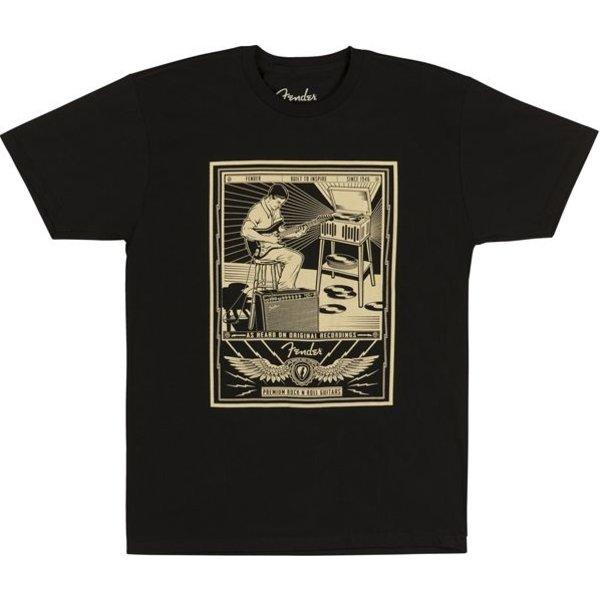 Fender Fender Sitting Player Men's T-Shirt, Black, L