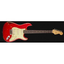 Fender Custom Shop Michael Landau Signature 1963 Relic Stratocaster, Round-Laminated RW, Fiesta Red over 3-Color SB