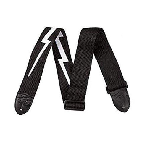 Fender 2.5'' Nylon Lightning Bolt Strap, Black
