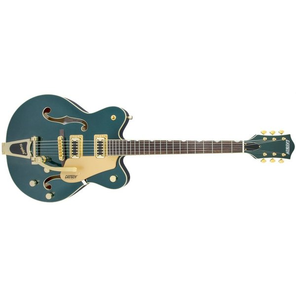 Gretsch Guitars G5422TG Limited Edition Electromatic Double-Cut Hollow Body with Bigsby and Gold Hardware, Cadillac Green Metallic