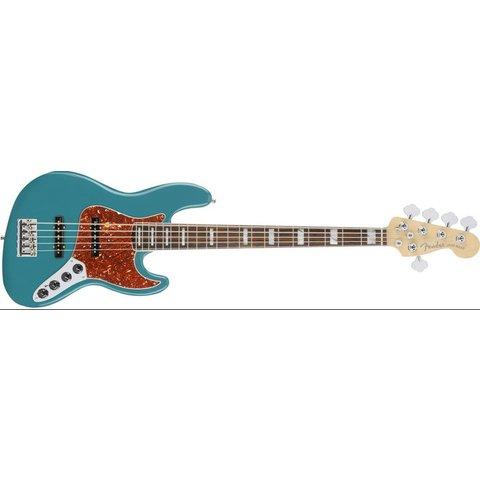 American Elite Jazz Bass V, Ebony Fingerboard, Ocean Turquoise