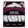 6045 Ernie Ball 30 Ft. Coil Cable Straight / Angle White Jacket Green Sleeve