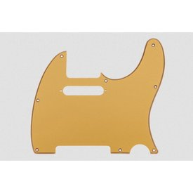 Fender 1-Ply Gold Metallic 8-Hole Mount Telecaster Pickguard