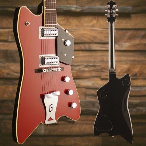 """Gretsch G6199 Billy-Bo Jupiter Thunderbird """"G"""" Cutout  TV Jones Firebird Red"""
