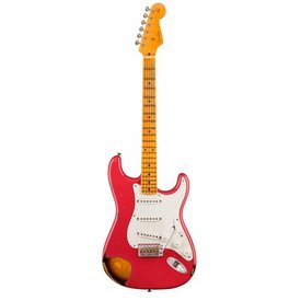 Fender Custom Shop 1955 Stratocaster Heavy Relic, Aged Coral Pink over Chocolate 2-Color Sunburst