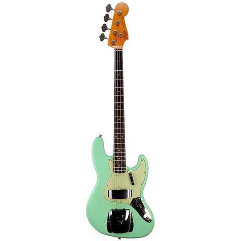 1962 Journeyman Relic Jazz Bass, Rosewood Fingerboard, Aged Surf Green