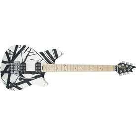 EVH EVH Wolfgang Special, Maple Fingerboard, Black and White Stripes