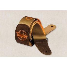 Taylor Taylor GS Mini Guitar Strap, Brown Suede, Brown