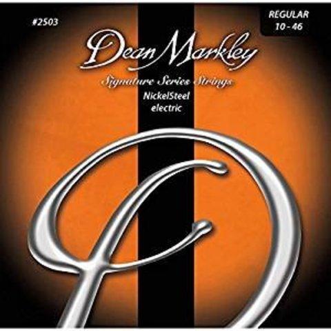 Dean Markley 25033PK Signature Series NickelSteel Elec Guitar Strings, Regular, 10-46 Gauge 3-Pack