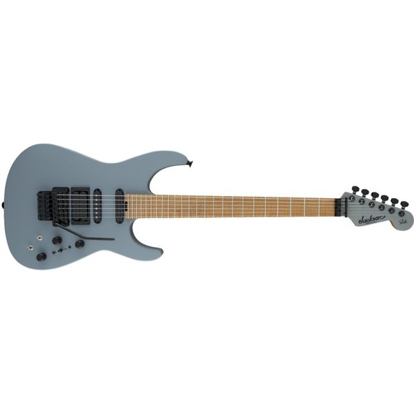 Jackson USA Signature Phil Collen PC1 Matte, Caramelized Flame Maple Fingerboard, Satin Gray