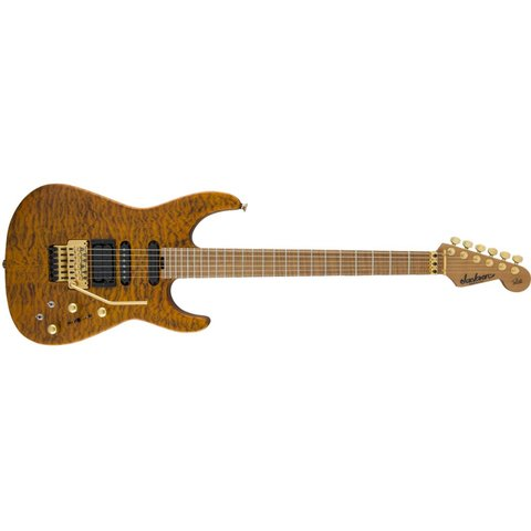 USA Signature Phil Collen PC1 Satin Stain, Caramelized Flame Maple Fingerboard, Satin Transparent Amber