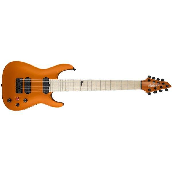 Jackson Pro Series Dinky DKA8M HT, Maple Fingerboard, Satin Orange Blaze