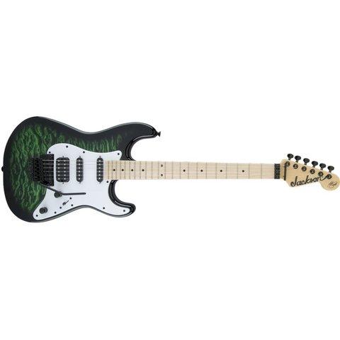 X Series Signature Adrian Smith SDXQ, Maple Fingerboard, Transparent Green